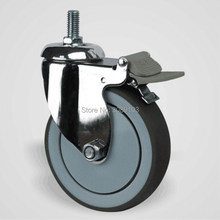 4 inch Medical swivel with brake ball bearing 304 stainless steel caster цены