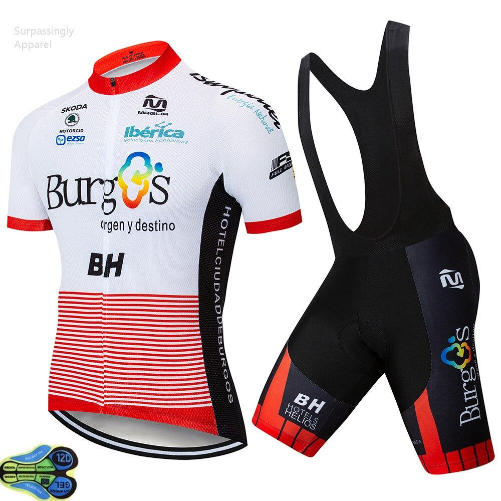 235a7ea1eaa5 2019 deporte al aire libre Pro Burg Ropa Ciclismo Maillot equipo BH Ciclismo  Jersey conjunto Ciclismo Ropa conjuntos MTB bicicleta 12D