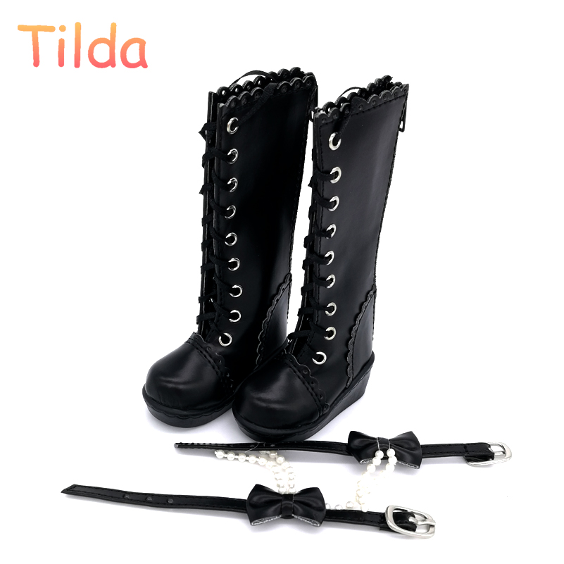 6cm 7cm High Heels BJD Doll Boots,PU Leather MSD Doll Shoes,Women's High Heel For 1/4 and 1/3 Dolls Toy Tilda Doll Accessories 5cm pu leather doll princess shoes for bjd dolls lace canvas mini toy shoes1 6 bjd snickers for russian doll accessories