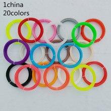 china No pollution 3D filament 100 200 Meters 10 20 Colors 1 75MM PLA Filament