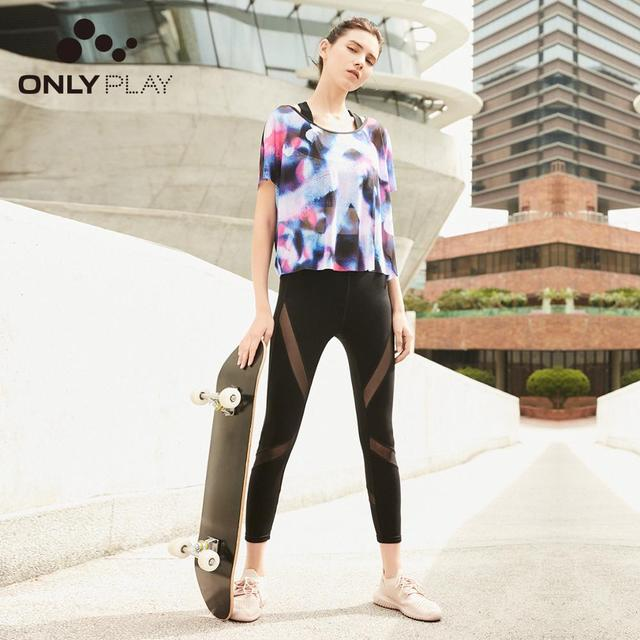 ONLY 2019 Spring Summer New Women's Gauzy Skinny Crop Leggings |119165503