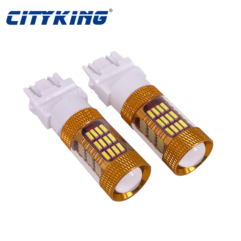 4014 Stop Cityking Super LED Motorcycle 12V Rear Turn t25 White car light Brake 3157 Bright 3156 60SMD 50PCS Indicator 1