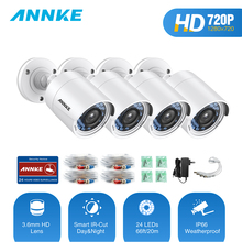 ANNKE 720P 100W HD-TVI Bullet Camera 4pcs Kit Outdoor Weatherproof Housing Infrared Night Vision Security Video Surveillance Cam