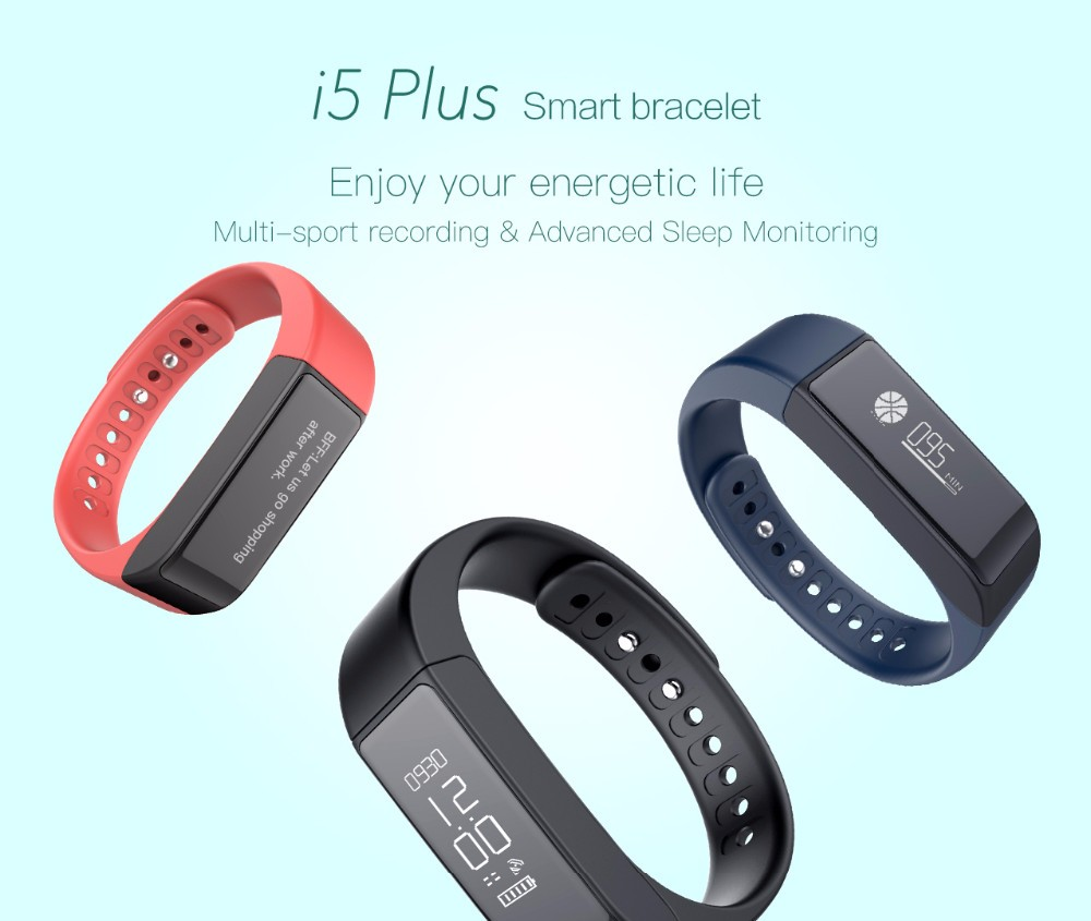 Original Iwown i5 Plus Smart Bracelet Wristband Bluetooth 4.0 Activity Tracker Waterproof SmartBand Passometer Sleep Monitor 1