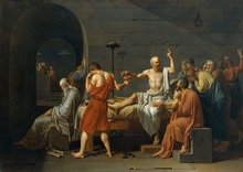 Jacques Louis David: The Death of Socrates SILK POSTER Decorative painting  24x36inch