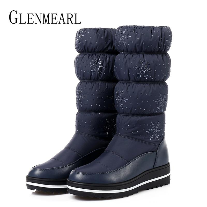 Women Snow Boots Winter Shoes Warm