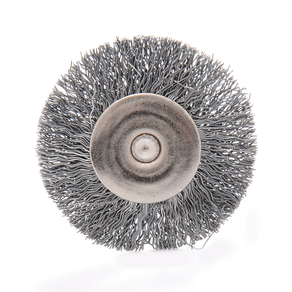 10pcs Quality Steel Wire Brush 25mm Diameter Wire Wheel Polish Brushes For Rotary Grinder Accessory Tool Wood Carving