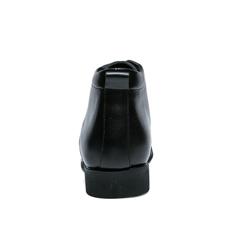 Hommes bottines de haute qualité confortable noir mariage robe formelle chaussures hommes d'affaires - 3