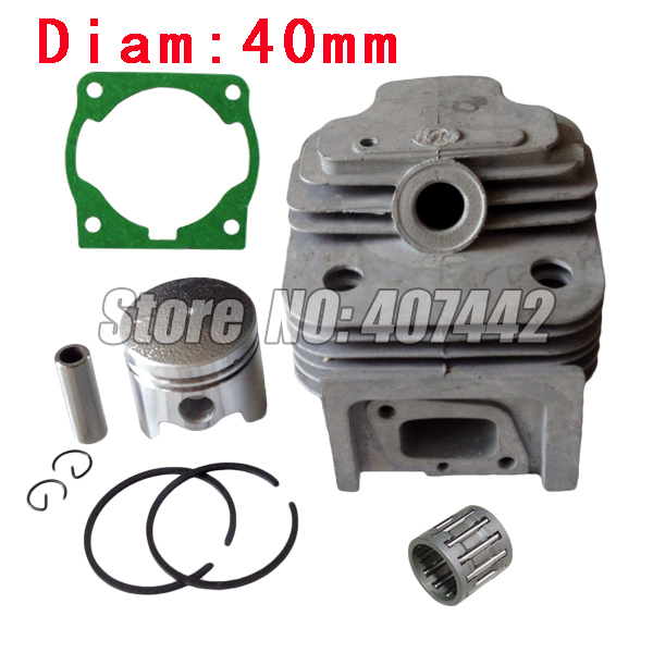 1x CG430, 40F-5 Engine  Brush Cutter Cylinder Piston  KITS 40MM With Gasket  Free Shipping