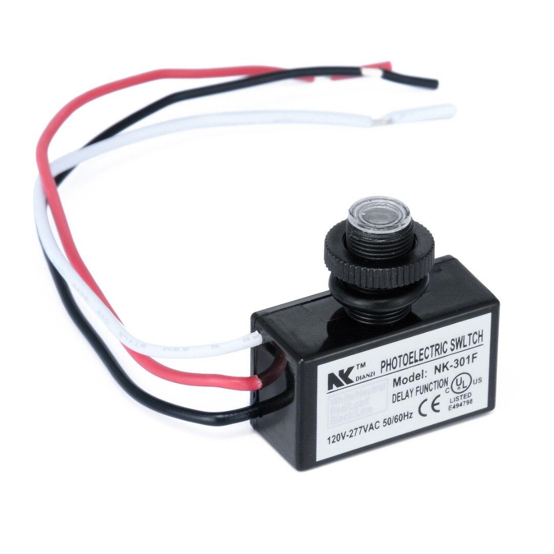 AC80 ~ 277 v Encastré Auto On Off Photoélectrique Capteur de Lumière Interrupteur À Distance Cellule Photoélectrique Crépuscule À L'aube Lumière capteur de commutation