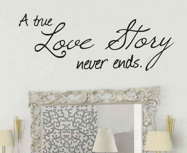 True love story never end wedding lover gift art vinyl diy wall true love story never end wedding lover gift art vinyl diy wallcar sticker junglespirit Image collections