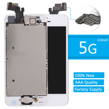 For iPhone 5 Screen Home button front camera speaker for iphone 5 LCD Display Assembly Digitizer highscreen Replacement Tools