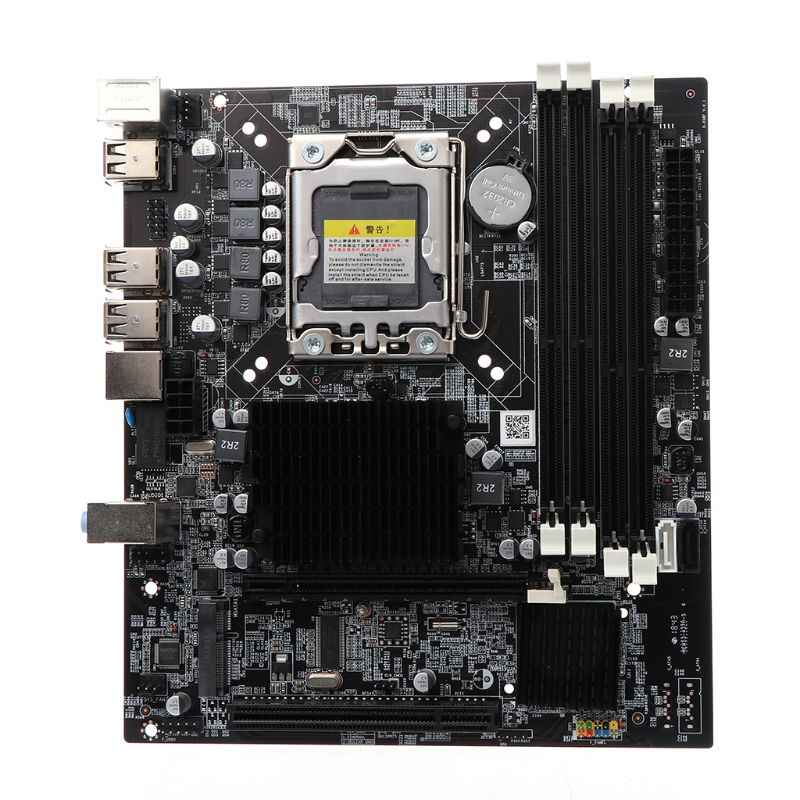2019 New for X58 Desktop Motherboard LGA 1366 Pin DDR3 Computer Mainboard Motherboard for L/E5520 X5650 RECC