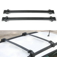 BBQ FUKA Black Car Alloy Top Roof Rack Cross Bars Luggage Holder Fit For Jeep Compass
