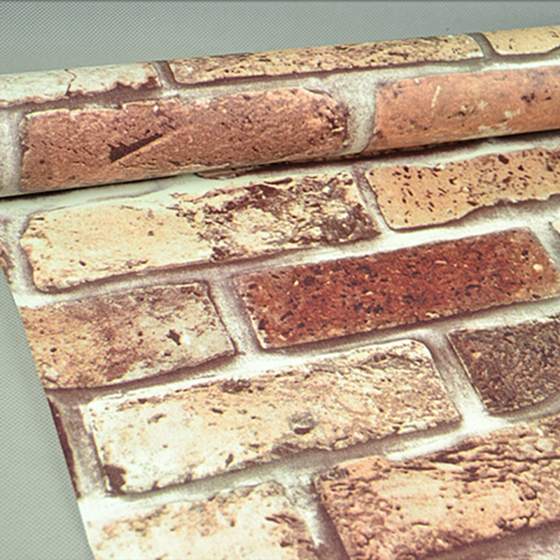 10M 3D Embossed Brick Pattern Self Adhesive PVC Wallpaper