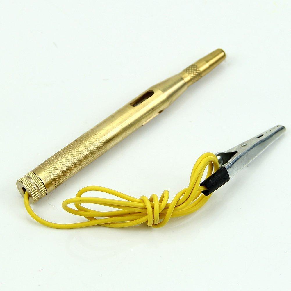 Best Selling Auto Car Truck Motorcycle Golden Circuit Voltage Tester Test Pen DC 6V-24V 60CM(Golden)