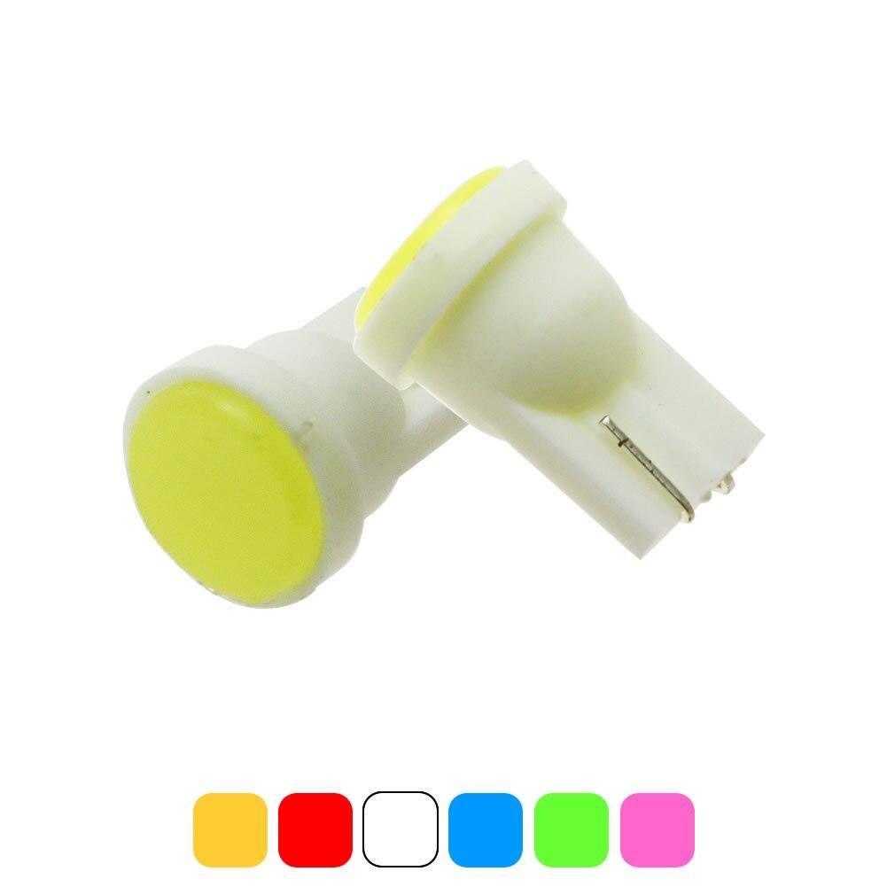 10-Pack T10 LED White Red Blue Green Pink Lights Number Side Marker Door Lamp Light bulbs DC 12V
