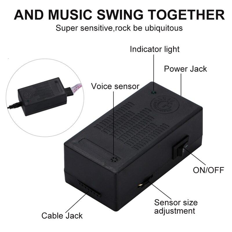 Speaker Rhythm Music Activated EL Sheet Equalizer Car Decration LED Musick Sticker Light Glow Flash Panel Voice Control Lamp