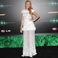 2017 Cap Sleeves Lace Gossip Girl Dresses red carpet dress celebrity gowns 2017 vestido de festa longos Blake Lively dress