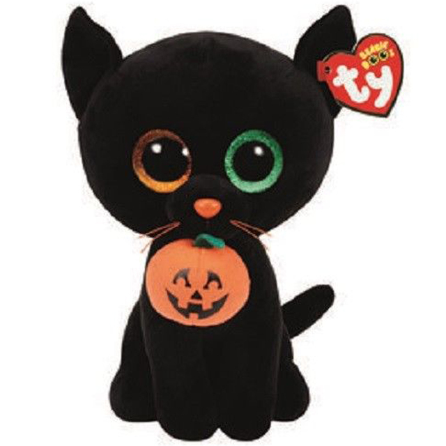 Ty Fischi Beanie Stuffed Plush Animali Più Gatto Nero Con Zucca Di