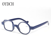 Nova moda irregular óculos de leitura para homem e mulher óculos de leitura quadro assimétrico