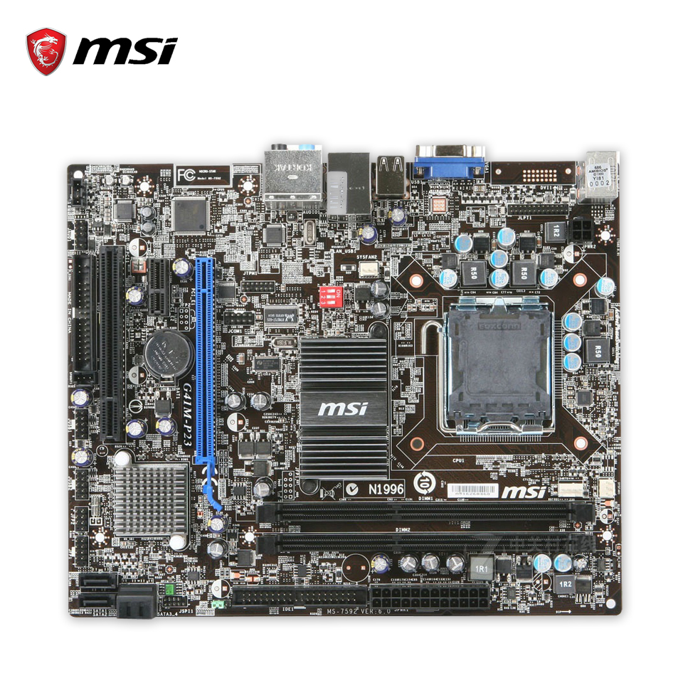 MSI G41M-P23 Original Used Desktop Motherboard G41 Socket LGA 775 DDR3 8G SATA2 USB2.0 Micro-ATX msi g41m p23 original used desktop motherboard g41 socket lga 775 ddr3 8g sata2 usb2 0 micro atx