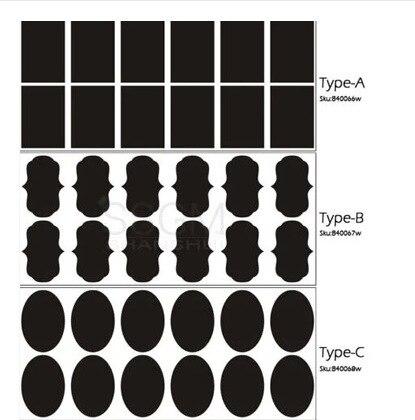 36pcs/set Vinyl Chalkboard Label Sticker For Jars Mini Etiquette Sticker For Home