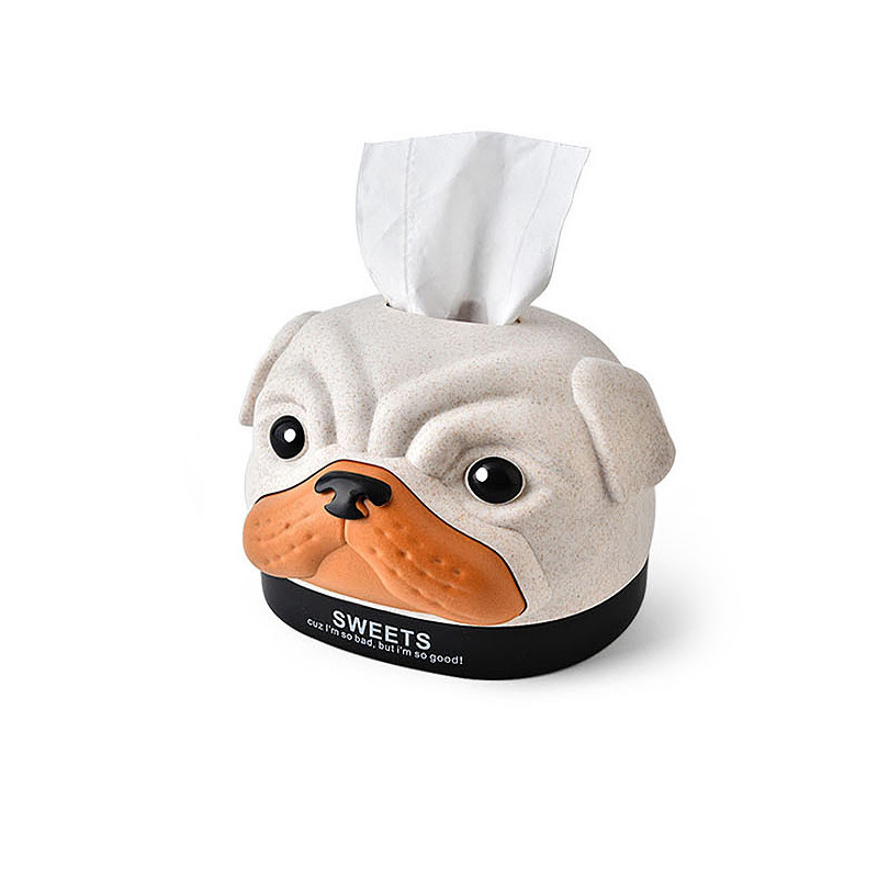 Creative Bobby Napkin Holder Modern Cartoon Dog Cover Paper Home Car Tissue Box Case Home Organizer Decoration Tools in Tissue Boxes from Home Garden
