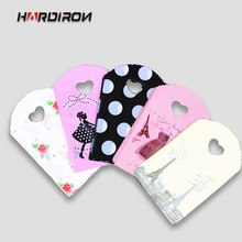 HARDIRON 50PCS Mini Small Present Packaging Pouch With Handles Design Plastic Shopping Kids Gift Bags Jewelry Packaging Packet(China)