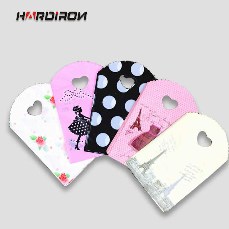 HARDIRON 50PCS Mini Small Present Packaging Pouch With Handles Design Plastic Shopping Kids Gift Bags Jewelry Packaging Packet