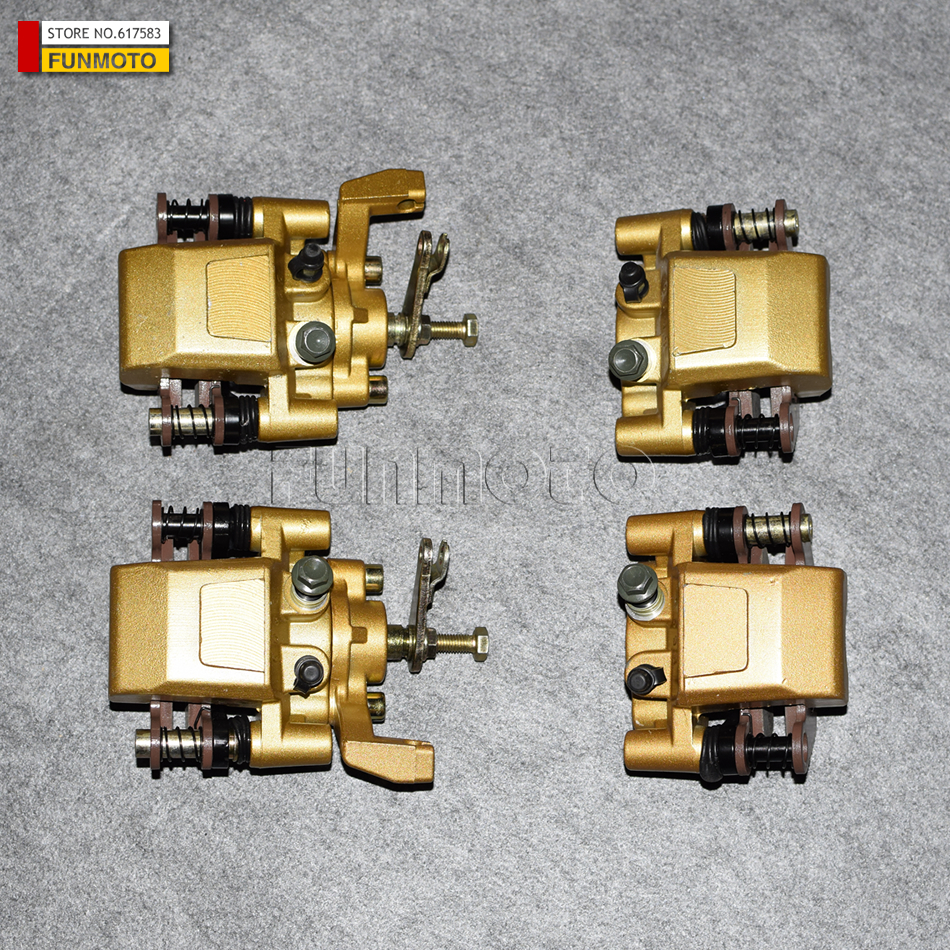 front left and right  rear left and right Brake caliper with parking brake of  XT1100/650 BUGGY/DAZON/KINROAD 1100CC BUGGY front left and front right and rear brake pad of cf moto cf650nk modl year 2013