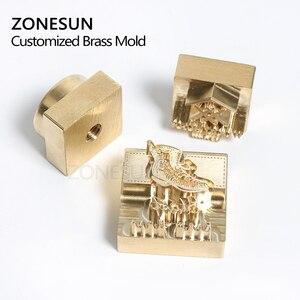 Image 3 - Zonesun 20 ミリメートルカスタマイズされたスタンプブランディングロゴのエンボス加工ホットstaming革レザーウッド個性燃焼ためスタンピング金型