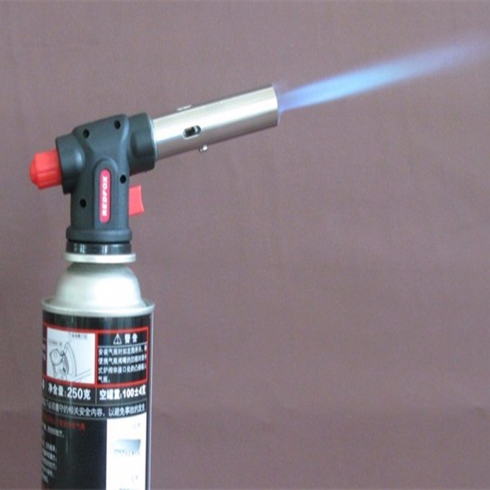 Flamethrower Burner Gas Blow Torch Auto Ignition Camping Welding Tool BBQ