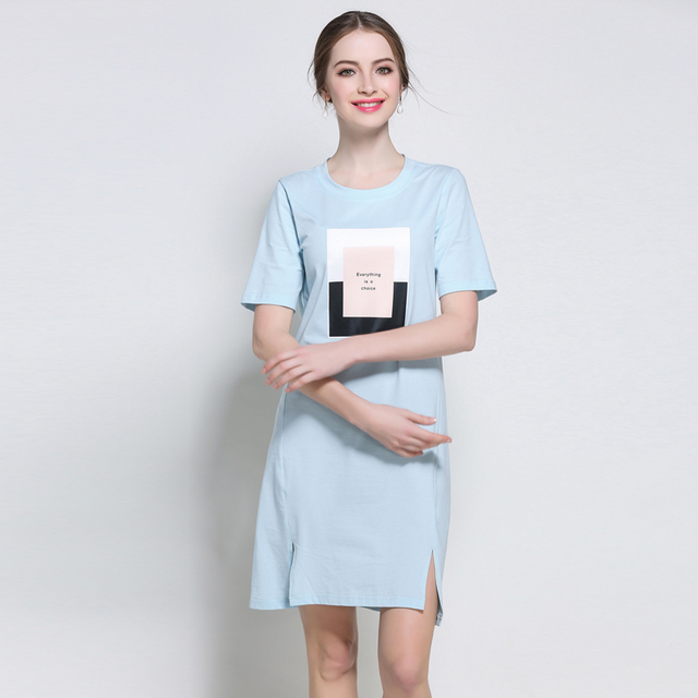5XL women casual summer dresses plus size european woman big size  brief cute work straight vintage beach cotton  summer dresses