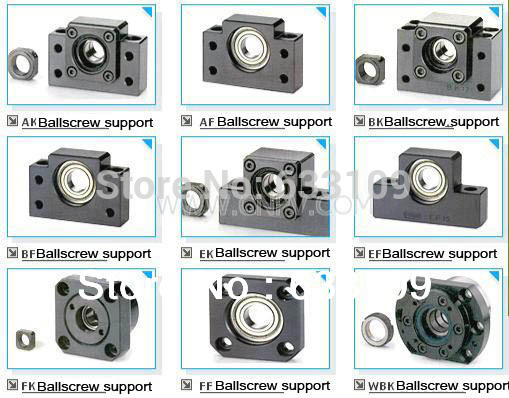 Slide Linear ballscrew support fixed side BK30 bk17 fixed end ballscrew support slide linear ball screw