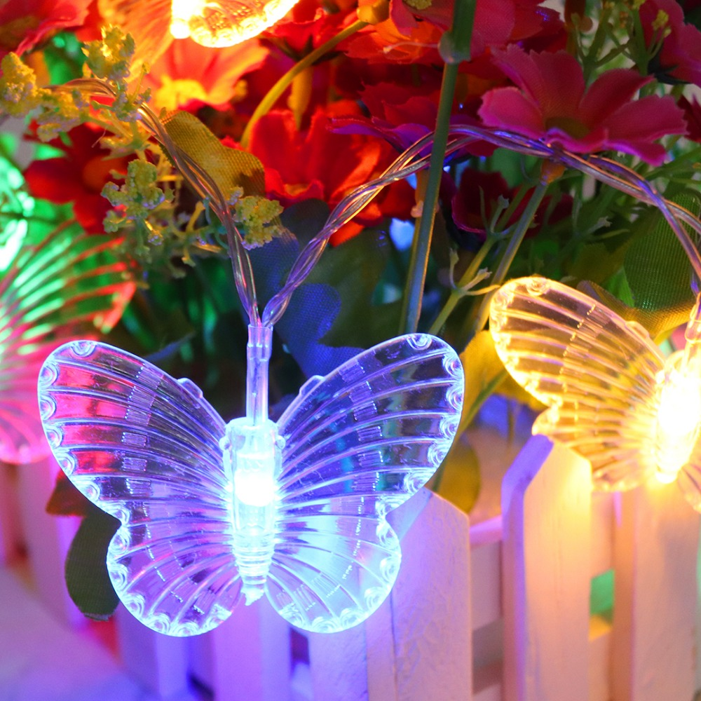 LED String Light Butterfly Garland Fiary Lights For Indoor Outdoor Garden Party Christmas Wedding Decoration USB Gerlyanda IQ