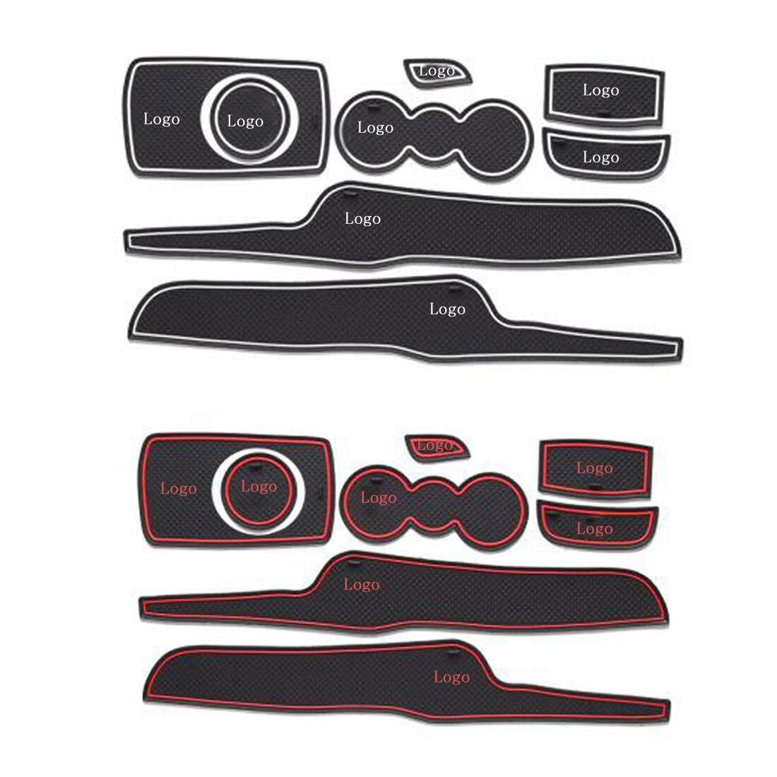 8pcs lot 3d rubber car door groove mat gate slot pad non slip mat