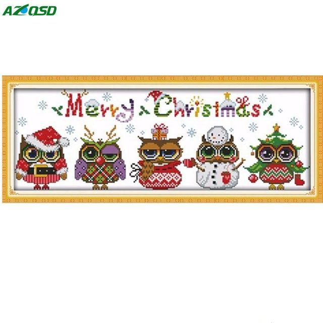 abbastanza AZQSD FAI DA TE Punto Croce Artigianato Di Natale Gufi Del Fumetto  KC64