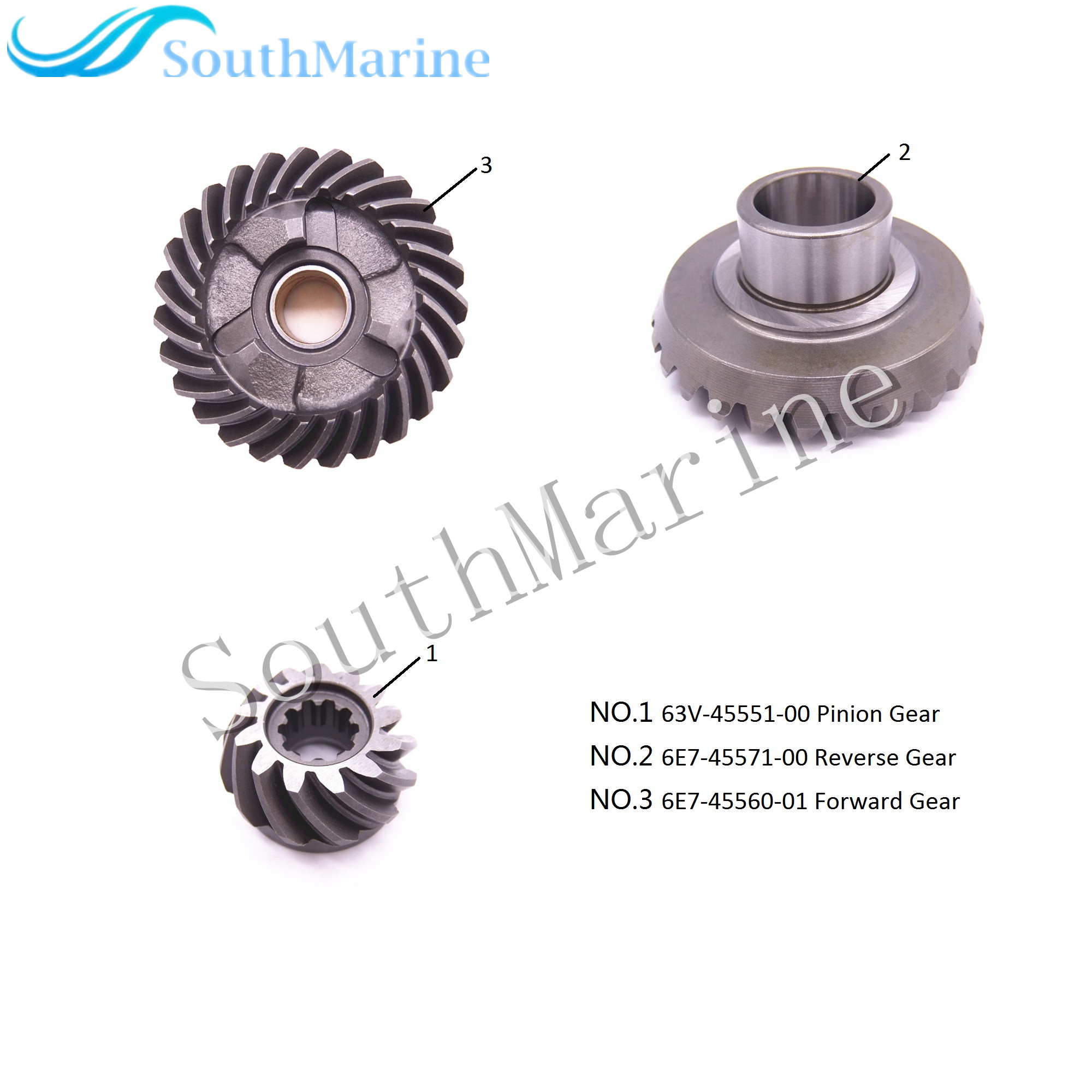 Outboard Engine 63V 45551 00 Pinion 6E7 45571 00 Reverse 6E7 45560 01 Forward Gear for
