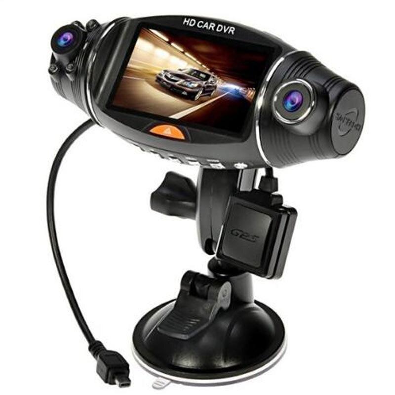 NEW 2.7″ TFT Dual Lens HD Car DVR Camera Cam Auto Video Recorder GPS G-sensor R310