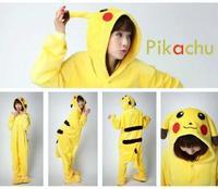 HOT Unisex Adult Pyjama Cosplay Kostuum Animal Onesie Pikachu Slaap Pak