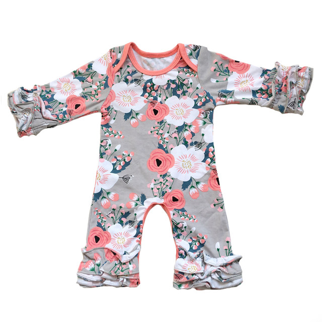 Online Shop Fall winter Wholesale Baby Icing Ruffle leg Romper ...