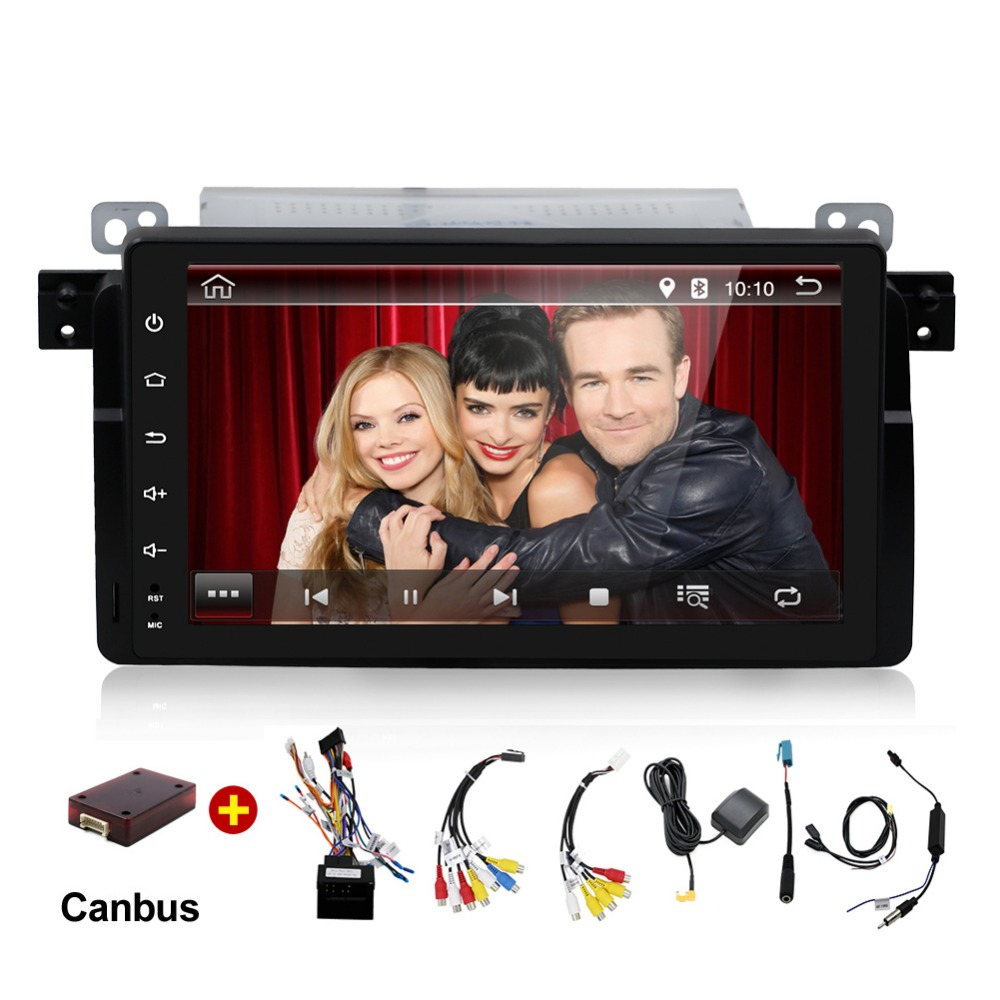9 inch Android 7.1 for bmw E46,M3,car dvd,gps navigation,wifi,4G LTE,BT,canbus,radio,RDS,2GB RAM,1024x600,support DVR,obd2 цены