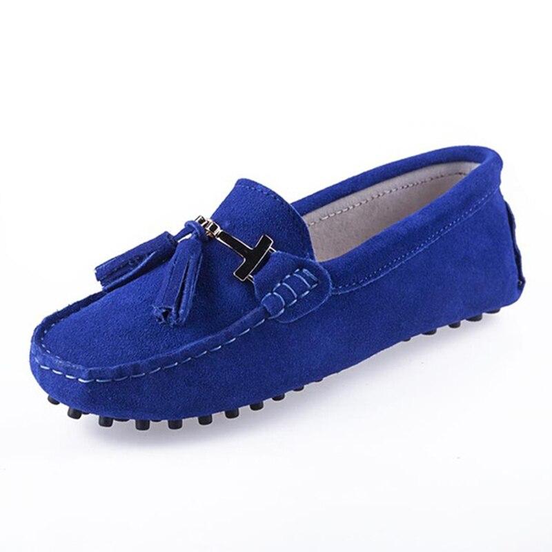 De alta Calidad Zapatos de Las Mujeres 100% Planos Del Cuero Genuino de Las Muje