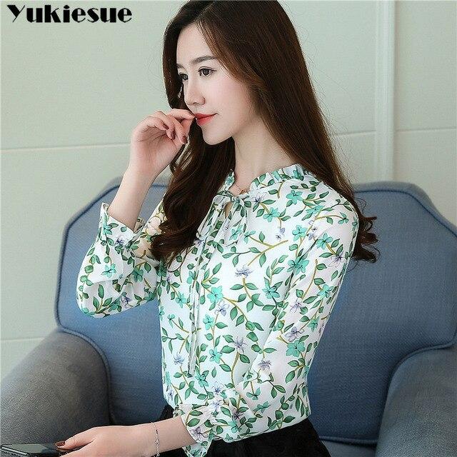 women blouses shirts woman blusas tops 2019 summer office work long sleeve ruffles elegant shirt blouse womens Plus size white 2