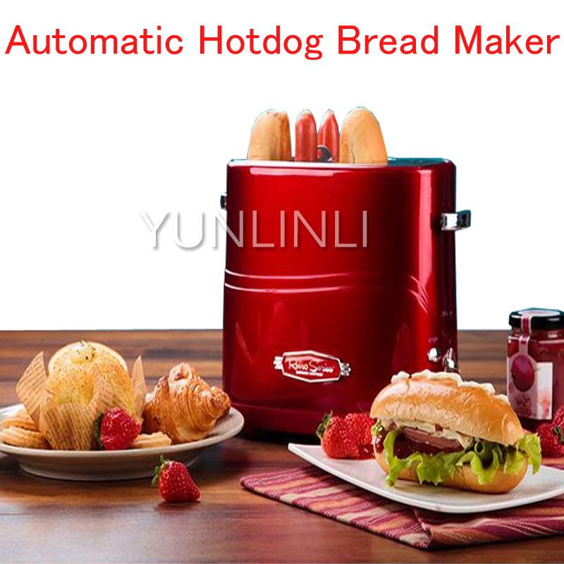 Household Automatic Hotdog Bread Maker Electric Hotdog Bread Toaster Mini Hotdog Bread/ Sausage Making Machine for Breakfast 12l electric automatic spain churros machine fried bread stick making machines spanish snacks latin fruit maker