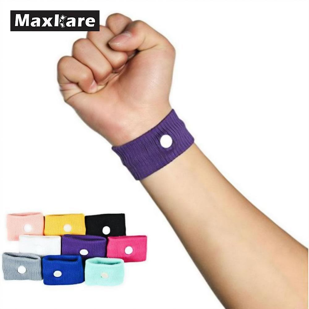 10 Pcs Travel Motion Morning Sickness Wrist Band Bracelet Anti Nausea Sick Car Van Sea Ship Plane Cotton Reusable Wristband