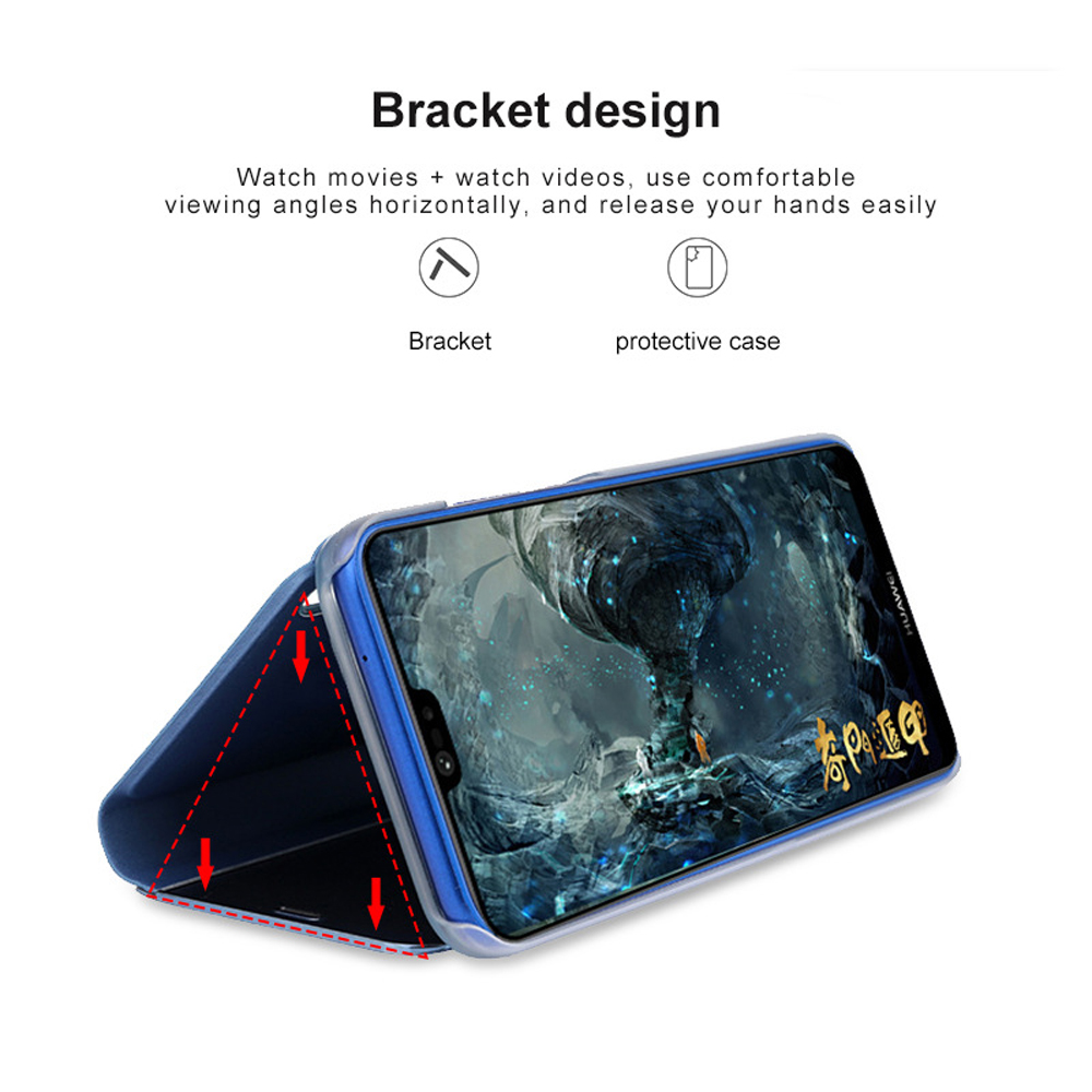 For OPPO R17 Pro Case Luxury Smart Mirror View Leather Flip Shell Stand Case For OPPO R17 Pro Cover Phone Shell Coque OPPO R17 in Fitted Cases from Cellphones Telecommunications