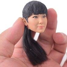 1/6 Scale KUMIK 15-25 Female Head Carving Sculpt Hot Toys Korea Hair Lifelike Girl Action Figure Accessory for12