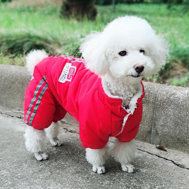 Warm Winter Pet Dog Coat clothes Thick dog Jumpsuits Overalls for Dogs Small Dog Clothes Warm Pet Outfit Clothing 5